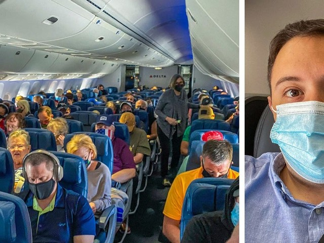 I flew Delta for the first time since it stopped blocking middle seats and found cracks showing in its mask enforcement- here's what it was like