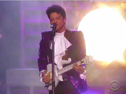 At the Grammys, Bruno Mars' Prince Tribute Was Great Enough to Remind You Prince Was Even Greater