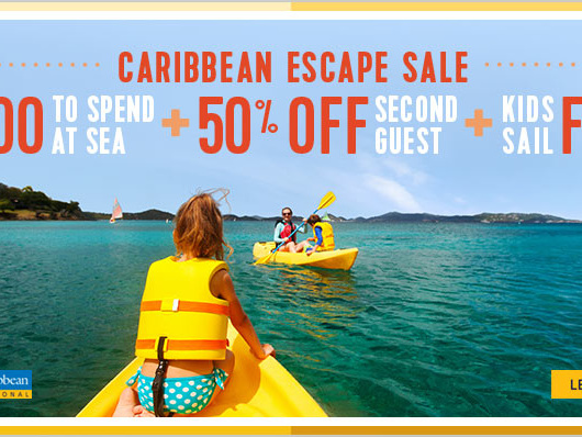 Royal Caribbean's Caribbean Escape Sale offering bonus money to spend at sea