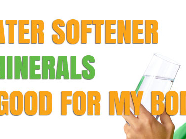 Does a water softener remove minerals that are good for the body?