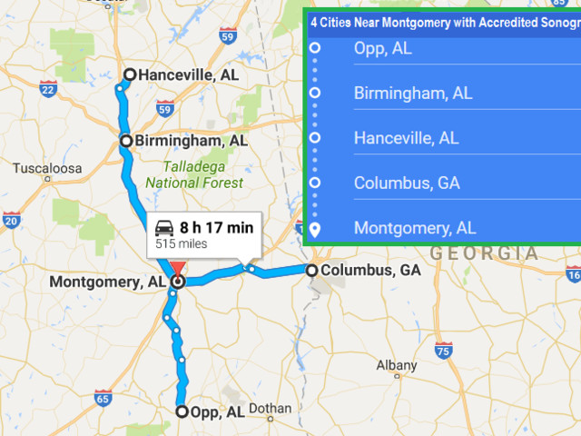 Accredited Ultrasound Technician Schools in Montgomery, Alabama