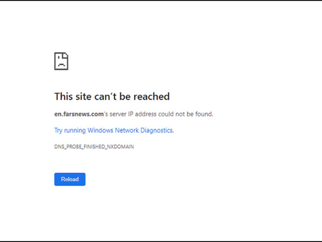 Iranian news agency says its website has GONE DOWN 'due to US sanctions'