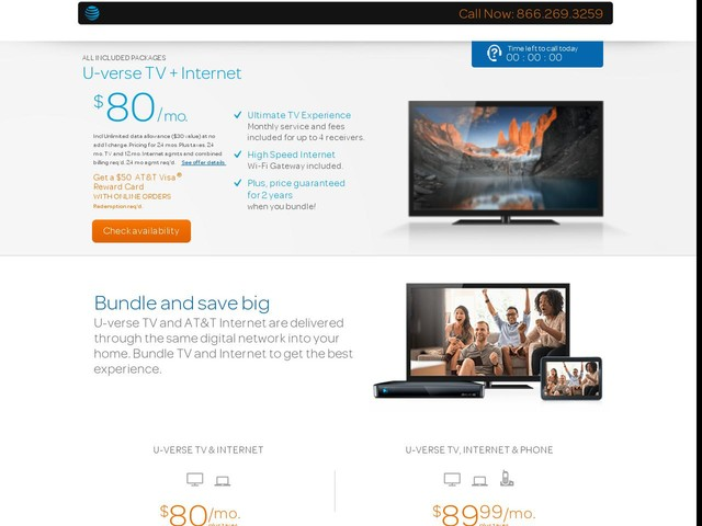 U-verse TV | AT&T Bundles |TV and Internet | AT&T Online Offers