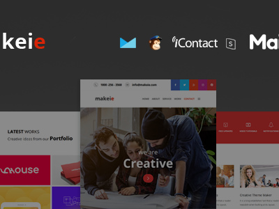 Makeie - 30+ Modules + Online Access + Mailster + MailChimp (Email Templates)