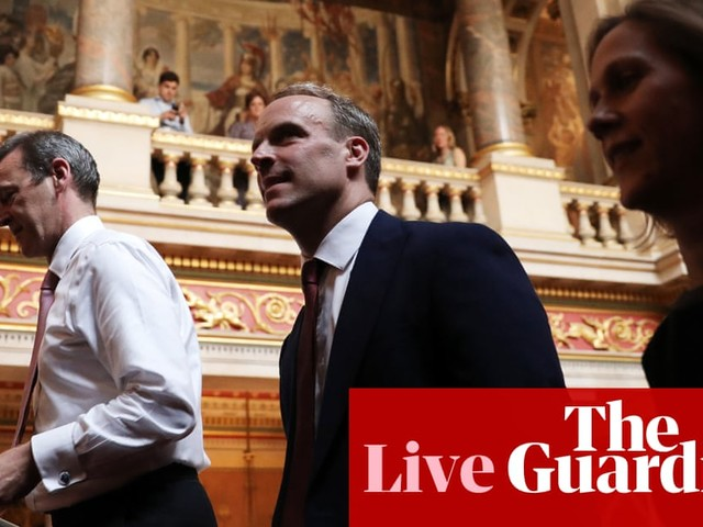 Raab suggests Boris Johnson won't reopen Brexit talks with EU until it agrees to drop backstop - live news