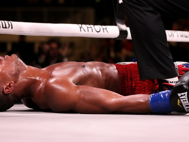 The 27-year-old American boxer who was knocked out and hospitalized on Saturday is currently 'fighting for his life'