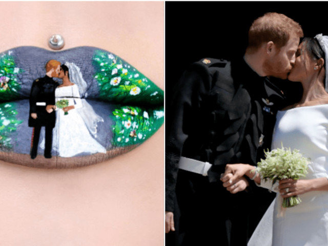 This Makeup Artist Expertly Recreated Prince Harry and Meghan Markle's Wedding Day Kiss