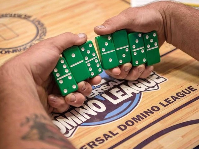 Forget football games this weekend. Go watch championship dominos near Las Vegas