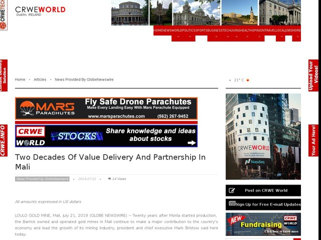 Two Decades Of Value Delivery And Partnership In Mali
