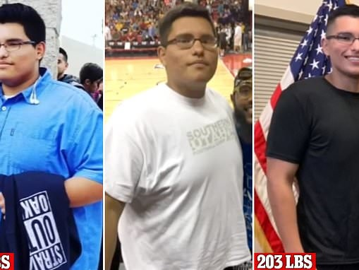 Man, 18, sheds more than 110LBS in seven months to join the U.S. Army