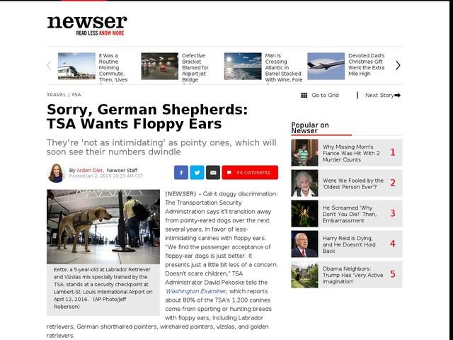 Sorry, German Shepherds: TSA Wants Floppy Ears