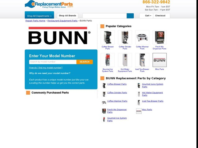 BUNN Restaurant Equipment Parts | Great Selection | Great Prices | eReplacementParts.com