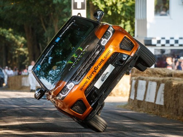 Land Rover, Terry Grant Set Two-wheel Record at Goodwood Festival of Speed