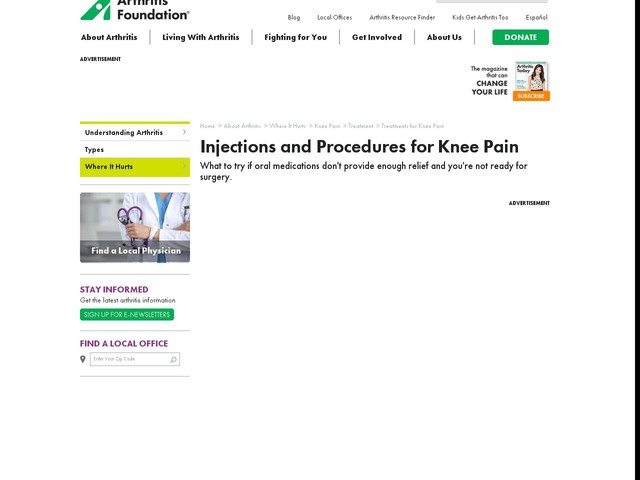 Knee Injection | Injections for Knee Pain