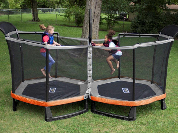 Dual 6.5-Foot Trampoline with Shooter Game Just $224 + FREE Shipping (Regularly $500)