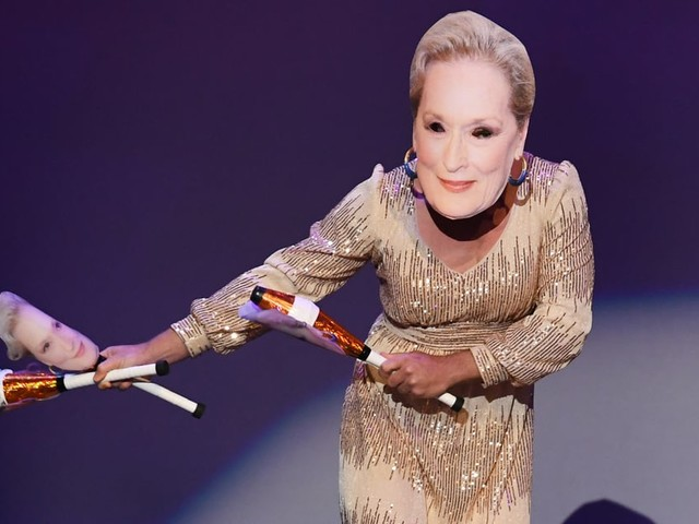 To the Masked Meryl Streep Imposter at the Emmys: What Did Meryl Streep Ever Do to You?