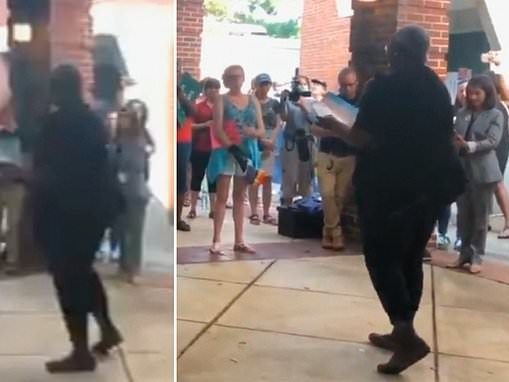NAACP leader's furious speech against opponents of critical race theory outside middle school