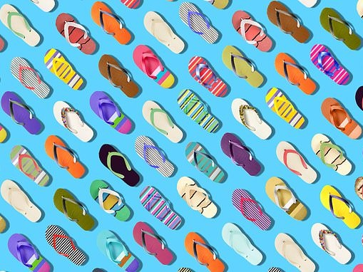 Can YOU spot the aubergine among the flip flops in this baffling brainteaser?