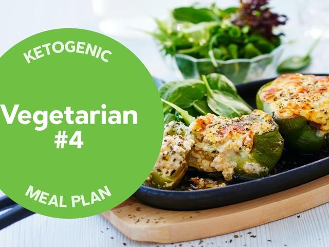 Keto: vegetarian meal plan #4