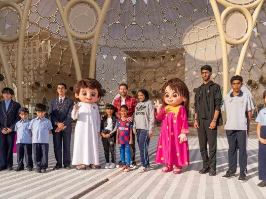 News: Messi greets UAE school children at Expo 2020