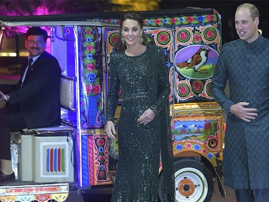 Kate Middleton, Prince William Hitch A Ride In A Rickshaw In Pakistan