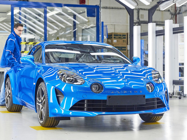Alpine A110 Enters Production in Dieppe, France
