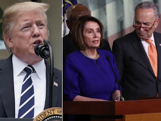 Trump takes to Twitter to keep bashing Pelosi, Schumer