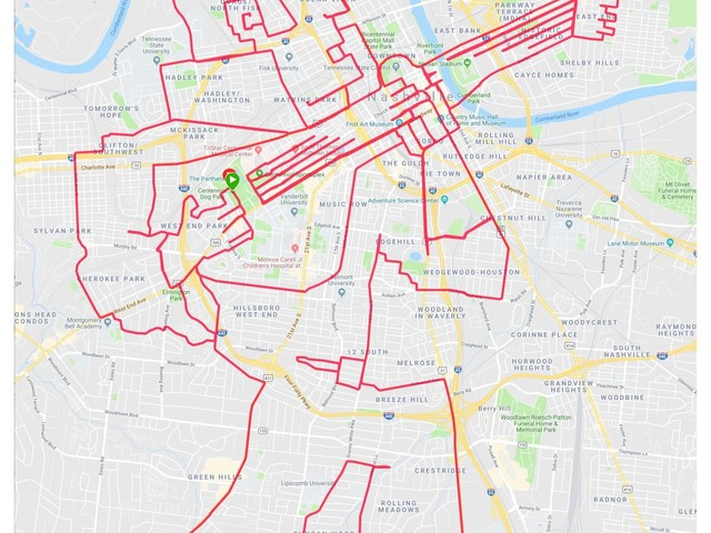 Hunka hunka burning rubber: Nashville bike route looks like Elvis playing a guitar