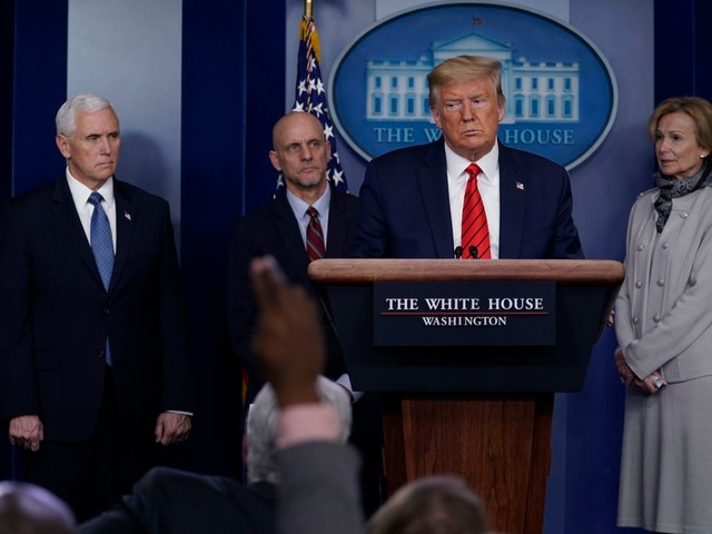 Under fire for his handling of the deadly virus outbreak, Trump targets the media