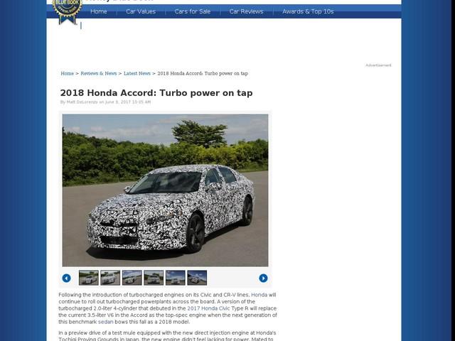 2018 Honda Accord: Turbo power on tap