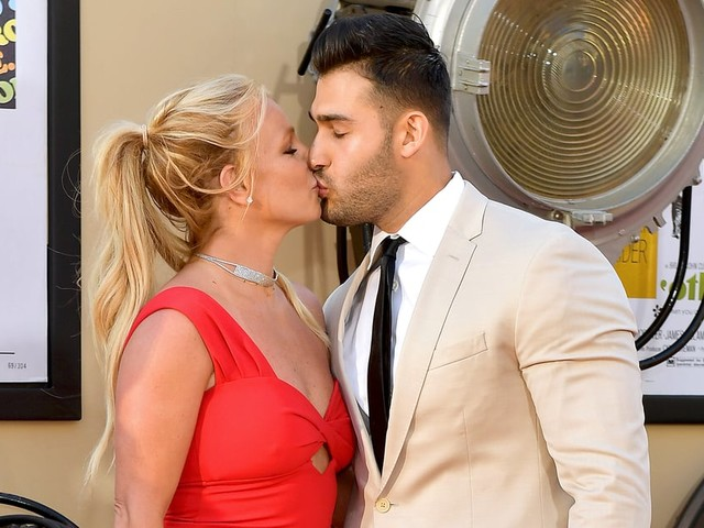 Britney Spears and Sam Asghari Look Simply Smitten at Their First Movie Premiere Together