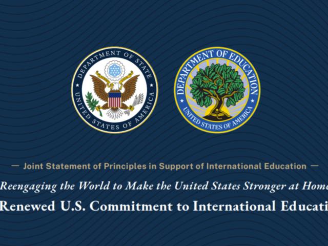 Statement expresses 'renewed' U.S. commitment to international ed