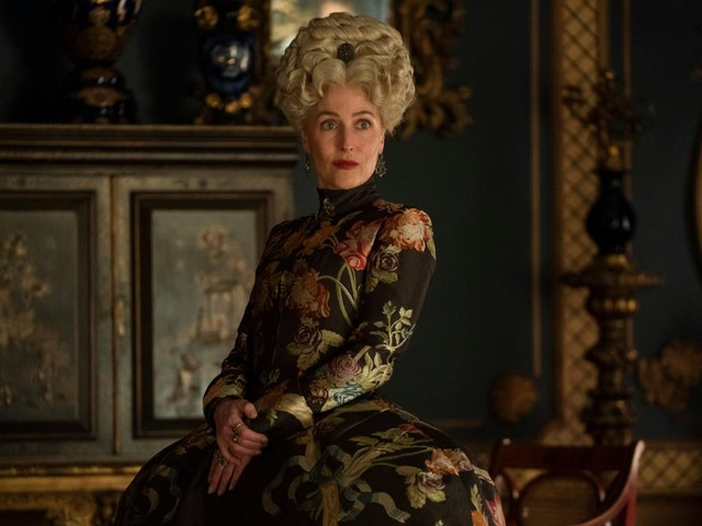 Gillian Anderson looks perfectly poised in images from the upcoming second season of The Great