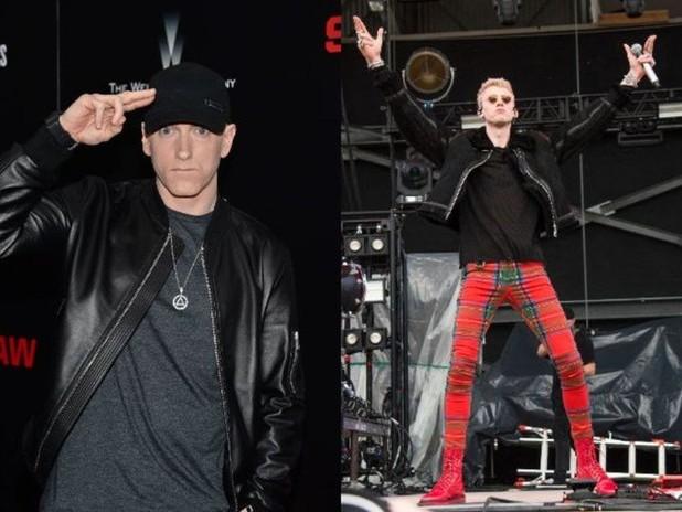 Eminem tells Machine Gun Kelly to 'Shut the F up!'