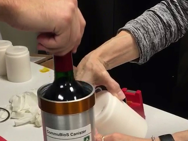 Wine cellar in space: 12 bottles arrive for year of aging