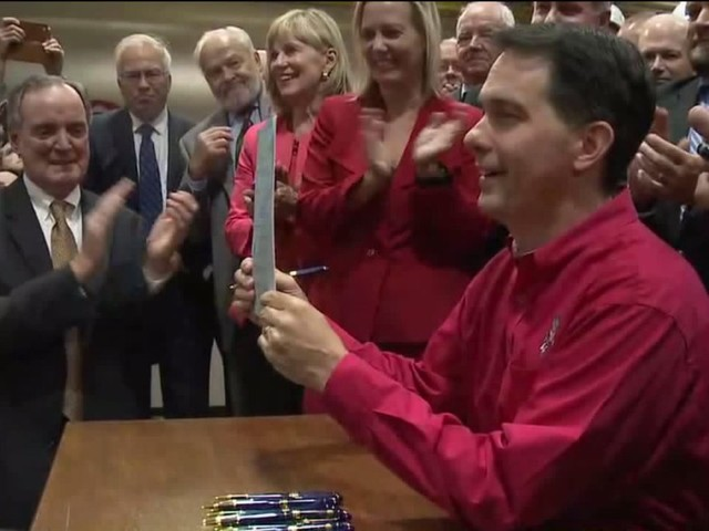 """""""Couldn't be more thrilled:"""" Gov. Walker signs $3 billion Foxconn bill into law"""