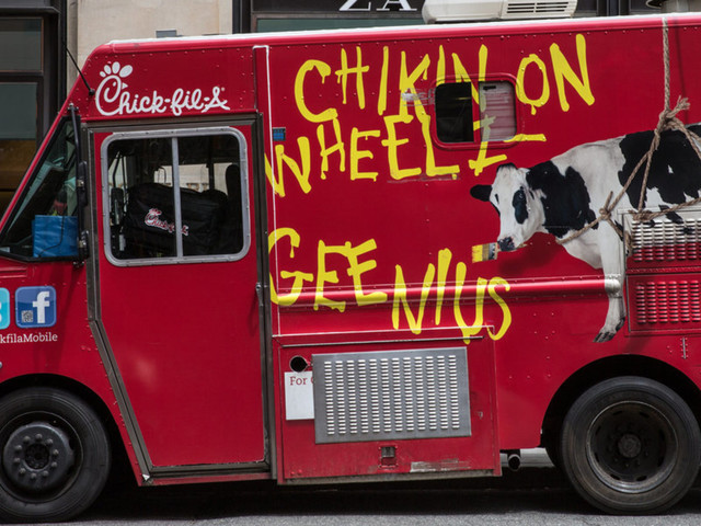 Chick-fil-A truck shows up at high school football game. Students stage walkout because they feel unsafe. Then MAGA counter-protesters joined in.