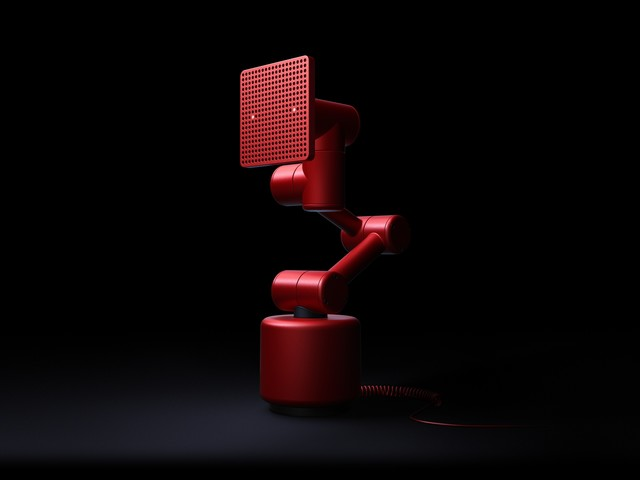 R is a reactive, emotional robot speaker from Teenage Engineering