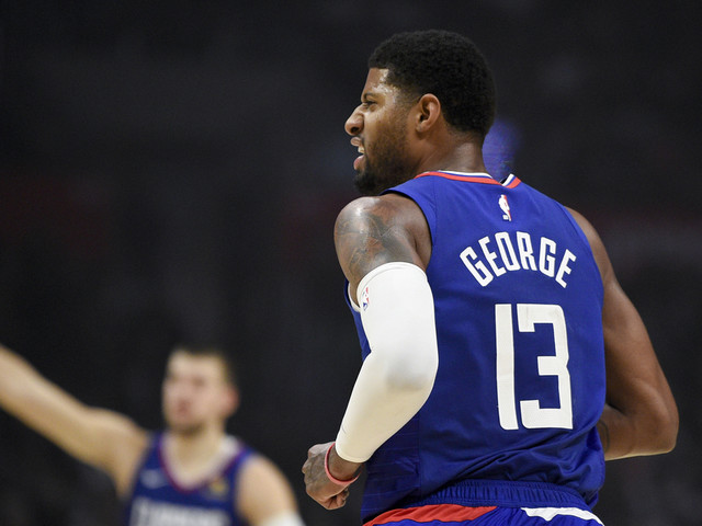 George's 37 in home debut lead Clippers past Hawks 150-101