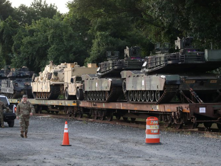 Military Tanks Arrive In DC For Trump's Fourth of July Party
