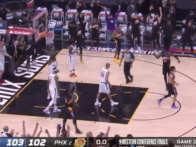 Deandre Ayton's buzzer-beating, alley-oop dunk gave Suns Game 2 win over Clippers