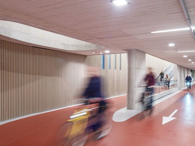 I can't wrap my feeble American brain around this massive bike parking garage in the Netherlands