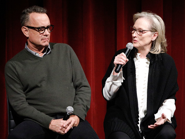 Tom Hanks Excluded Meryl Streep From 'The Post' Cast Party?