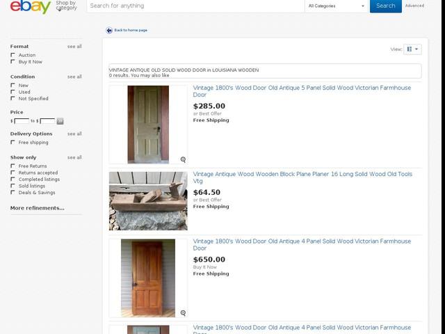 VINTAGE ANTIQUE OLD SOLID WOOD DOOR in LOUISIANA WOODEN | eBay
