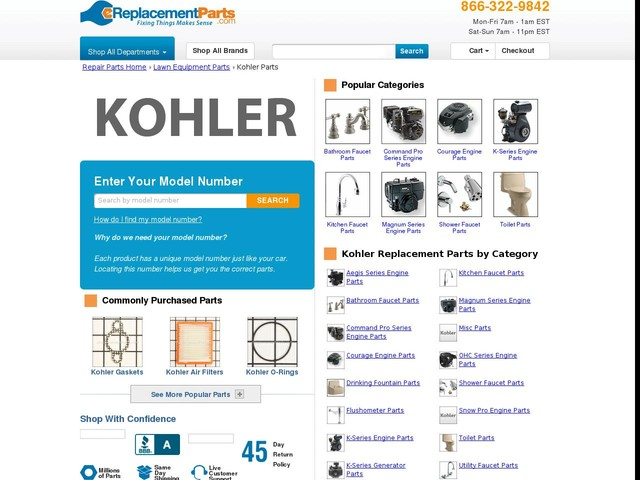 Kohler Lawn Equipment Parts   Great Selection   Great Prices   eReplacementParts.com