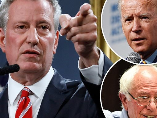 I'm in it for the long run claims Bill de Blasio as his 2020 bid stays at virtually zero in polls