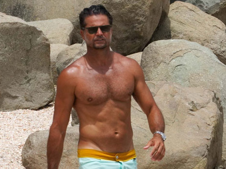 David Charvet Proves He's Still In 'Baywatch' Shape Going Shirtless At 48 On St Bart's Vacation