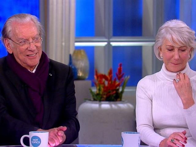 WATCH: Helen Mirren, Donald Sutherland talk Oscars honor, #TimesUp movement, Golden Globes and more