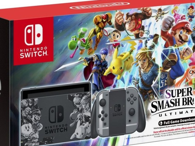 Switch 'Super Smash Bros. Ultimate' set bundles system and game for $360