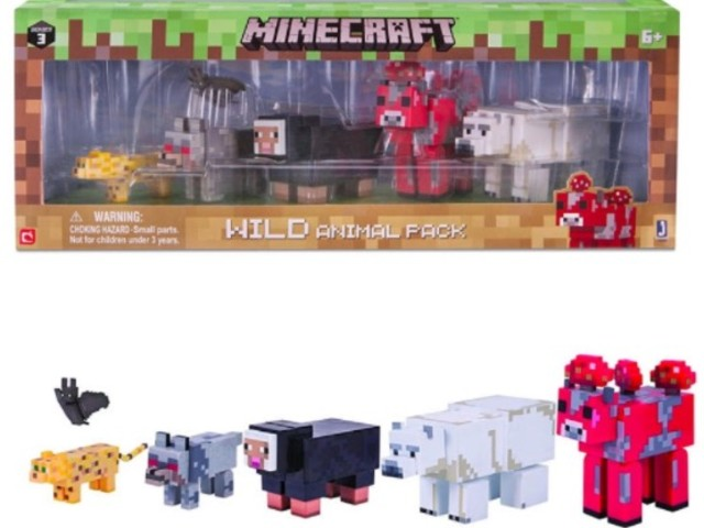 *HOT* Get a Minecraft Wild Animal Action Figure Pack for just $7.99!